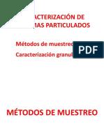 Caracterización de Sistemas Particulados 2017