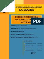 DETERMINACION DE LA ALCALINIDAD EN AGUAS NATURALES N°4