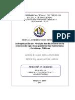 La Inaplicación Del Principio NON BIS in IDEM en La Relación de Sujeción Especial de Los Funcionarios y Servidores Públicos