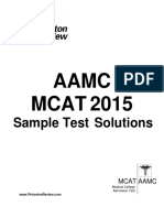 AAMC Sample Test Solutions