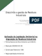 Aplicação Da Legislação Ambiental Na Disposição de Resíduos Industriais-Aloisio Bozzini