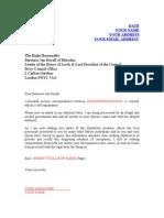 Baroness Jan Royal Letter
