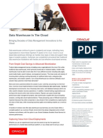 Briefing -Datawarehousing on Cloud