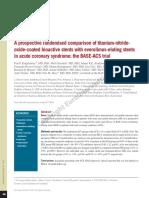 A Prospective Randomised Comparison of Titanium-nitride-oxide-coated Bioactive Stents