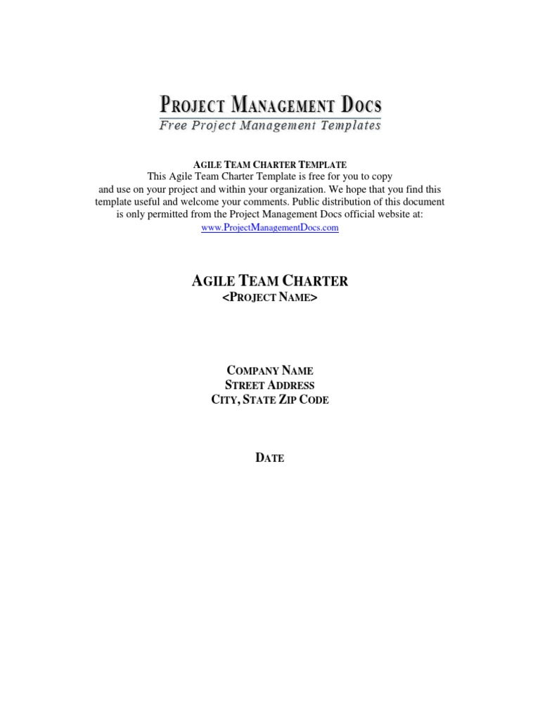 Agile Team Charter Docx Agile Software Development Scrum