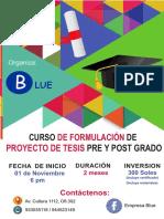 Afiche Curso Tesis Noviembre - 2017