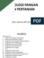 Pert-1 Silabus Teknologi Pangan dan Pertanian