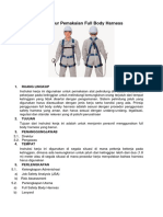 Prosedur Pemakaian Full Body Harness