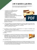 Leyes de La Quimica y Postres
