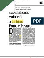 Giornalismo culturale a Urbino, Fano e Pesaro - Il Corriere Adriatico del 29 settembre 2017