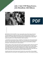 Pidato Pancasila 1 Juni 1945 Bung Karno