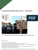 Tunisian Anarchist Movement – Manifesto _ Tahrir-ICN