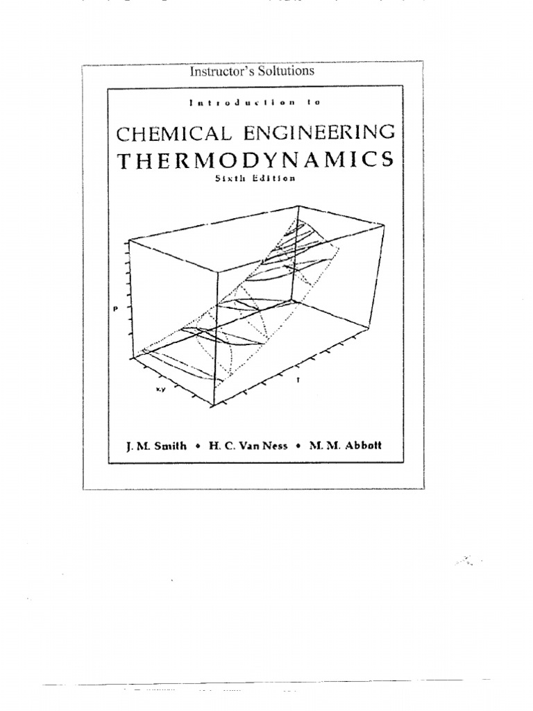 Solution manual chemical engineering thermodynamics smith van ness fandeluxe Choice Image