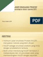 Holmium Laser Enukleasi PADA Prostat