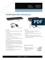 Dcx3000 Ds Rev1 Dcx3000 Digital Kvm Switching System