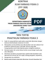 Kontrak Praktikum Farfis III