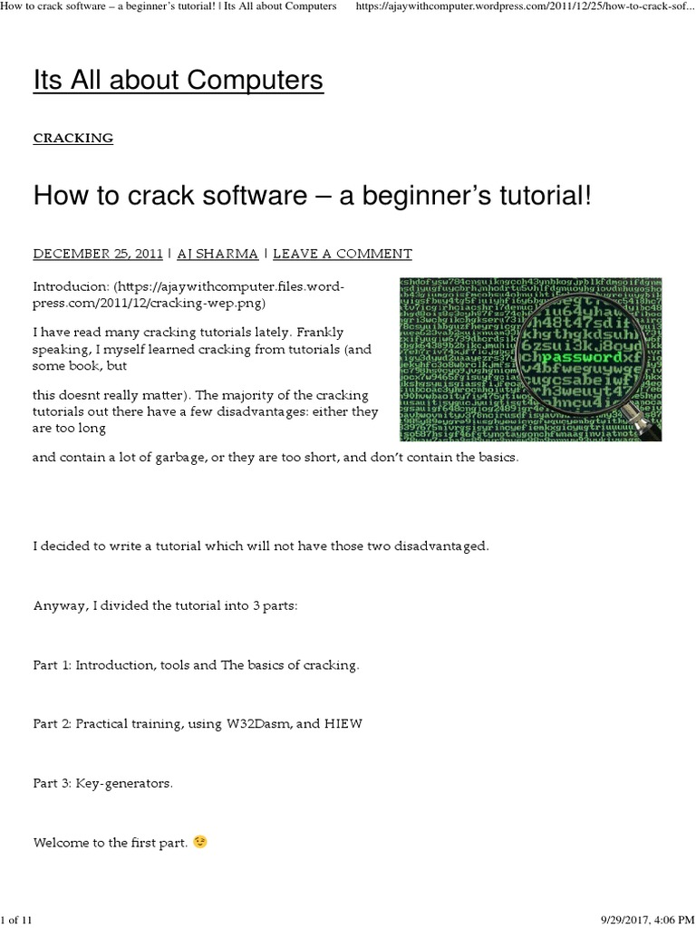 How to Crack Software – a Beginner's Tutorial! _ Its All