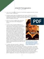 Musharraf's Transgressions