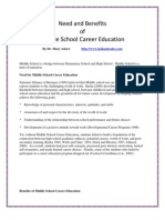 Middle School Career Education Benefits