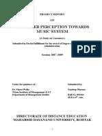 CONSUMER PERCEPTION TOWARDS MUSIC SYSTEM.doc