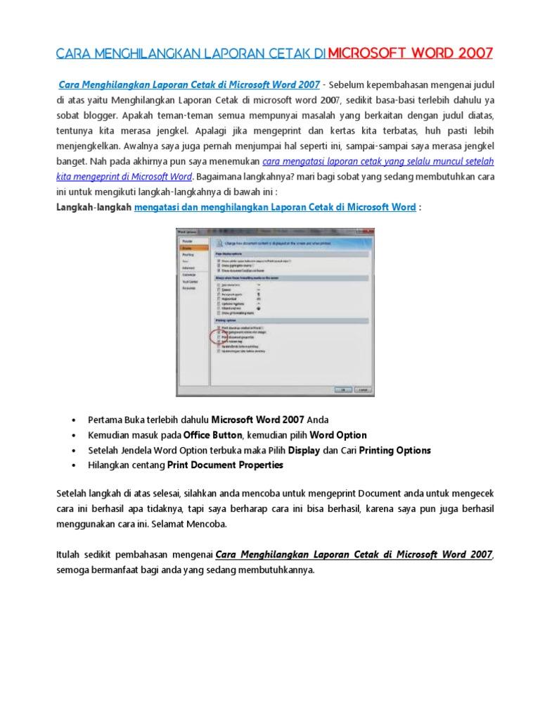 Cara Membuat Ukuran Foto 3x4 Di Microsoft Word 2013 ...
