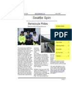 June 2007 Seattle Spin Newsletter, Cyclists of Greater Seattle