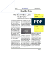 September 2007 Seattle Spin Newsletter, Cyclists of Greater Seattle