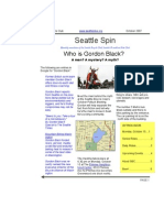 October 2007 Seattle Spin Newsletter, Cyclists of Greater Seattle