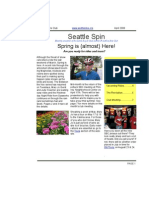 April 2008 Seattle Spin Newsletter, Cyclists of Greater Seattle