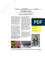 May 2008 Seattle Spin Newsletter, Cyclists of Greater Seattle