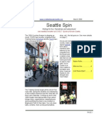 March 2009 Seattle Spin Newsletter, Cyclists of Greater Seattle