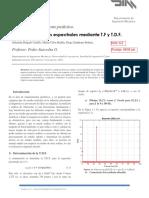 Analisis de señales espectrales mediante T.F y T.D.F