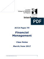 Financial Management f9 Lsbf June 2017