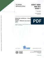 ABNT 6506-1 - Materias Metálicos