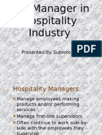321069563 19018233 the Manager in Hospitality Industry