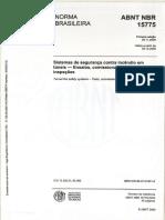 ABNT 15775_Sistema de Segurança Contra Incêndio Em Túneis – Ensaios, Comissionamento e Inspeções