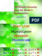 2017 MTAP-DepEd Saturday Program for Grade 3 Mathematics Session 3