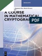 (De Gruyter Graduate) Gilbert Baumslag, Benjamin Fine, Martin Kreuzer, Gerhard Rosenberger-A Course in Mathematical Cryptography-Walter de Gruyter (2015).pdf