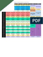 Modelo de Cronograma de Estudos Do Curso Enem - Noite