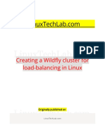 Creating a Wildfly Cluster for Load-balancing in Linux