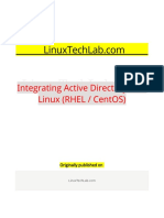 Integrating Active Directory With Linux (RHEL CentOS)
