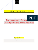 Tar Command