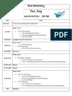 king class schedule 2017-2018