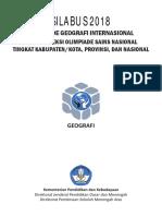 Silabus OSN Geografi 2018