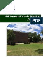 language portfolio ibcp guidelines class 0f 2018