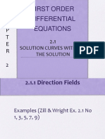 2.1 Solution Curves Without a Solution