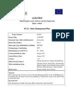 D7.12 Data Management Plan Phase 3 v1.0