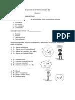Evaluaciones Grado 3ro Periodo 1