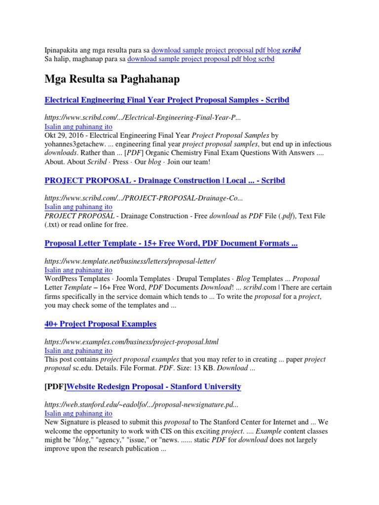 ipinapakita ang mga resulta para sa download sample project proposal