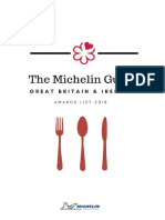 Michelin Guide 2018 Awards List